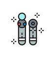 move motion controller joystick gamepad flat vector image