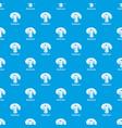 mushroom pattern seamless blue vector image vector image
