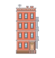 new york united states red brick old building vector image