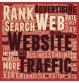 OG web traffic 16 text background wordcloud vector image vector image