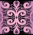 pink vintage ornamental damask seamless pattern vector image
