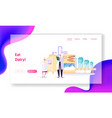 processing milk factory landing page production vector image