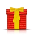 realistic gift box wrapped paper vector image