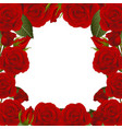 red rose flower frame border2 vector image