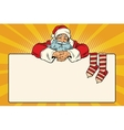 Santa Claus character Christmas socks for gifts vector image