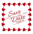 Save the date card with heart frame vector image vector image