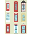 Set of 9 United Kingdom Telephone Boxes from vector image vector image