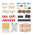 set of different scotch tape on white background vector image vector image