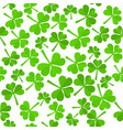 shamrock leaves pattern vector image vector image