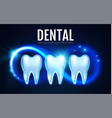shining helthy tooth with motion lights cleaining vector image vector image