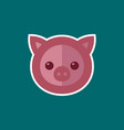 simple pig icon vector image vector image