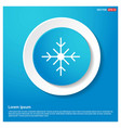snow flake icon abstract blue web sticker button vector image vector image