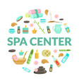 spa center banner template natural cosmetics and vector image vector image