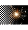 sparkler on a transparent background vector image