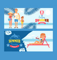 summer vacation banner travel to seaside resort vector image