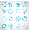 Suns Rays Icons Set - Isolated On Gray Background vector image vector image