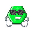 super cool octagon character cartoon style vector image vector image