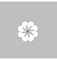 Swirl flower computer symbol vector image vector image