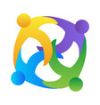 Teamwork hugging logo vector image vector image