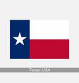 texas usa state flag tx usa vector image vector image