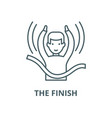 the finish line icon linear concept vector image