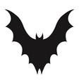 vampire bat silhouette halloween bats decoration vector image vector image