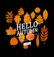 watercolor autumn foliage sale banner vector image vector image