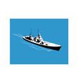 World War Two Battleship Warship Cruiser Retro vector image vector image