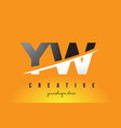 yw y w letter modern logo design with yellow vector image vector image
