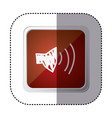 red symbol volume technology icon vector image