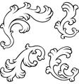 Vintage floral design elements vector image