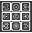 Monochromic ornamental watches vector image