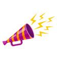 ultraviolet retro megaphone