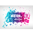 Abstract colorful business template vector image