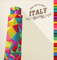 Travel Italy landmark polygonal monument vector image