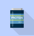 500 ml protein icon flat style vector image vector image