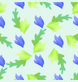 abstract floral seamless pattern background vector image vector image
