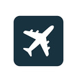 airplane icon Rounded squares button vector image vector image