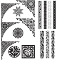 Arabic ornament corners vector image vector image