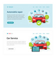automobile diagnostic or car test service web site vector image