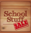 back to school - retro typography design logos vector image