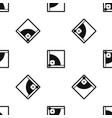 baseball field pattern seamless black vector image vector image