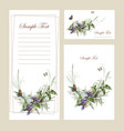 beautiful floral cards vector image vector image