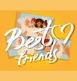 best friends collage selfie photos girls vector image