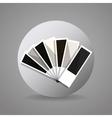 black and gray pantone vector image