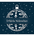 blue german christmas background vector image vector image