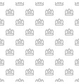 bronze crown pattern seamless vector image vector image