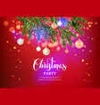 christmas beautiful decor vector image