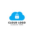cloud tech icon design cloud element vector image