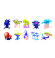 collection of colorful magical fairytale mushrooms vector image